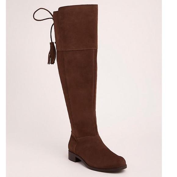 7d5f1448c5e NWT Torrid Genuine Suede Tassel Over-the-Knee Boot